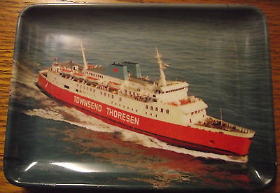 Townsend Thoresen Ferries Boat Melamine Oddment Or Ash Tray