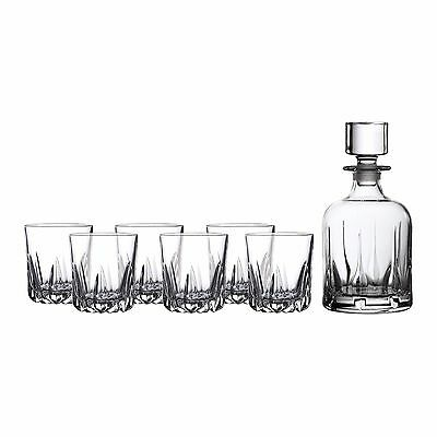New Royal Doulton Mode 7 Pce Decanter Set (Set Of 6 Tumblers) Rrp$299! Free Del!
