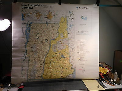 Large Vermont New Hampshire Map 1981