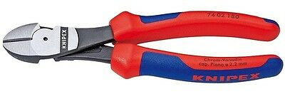 Knipex 74 02 180 High Leverage Diagonal Side Cutters 180mm - 7402180