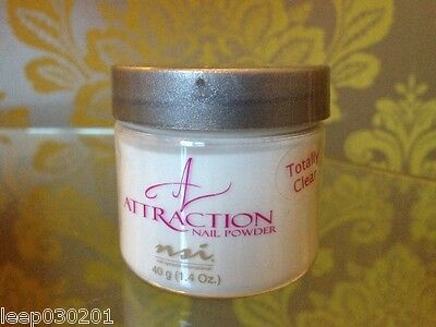 NSI Attraction Acrylic powder Totally Clear 40g Pot New