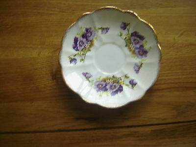 Real Shabby Chic Melba China 'violets' Saucer #2