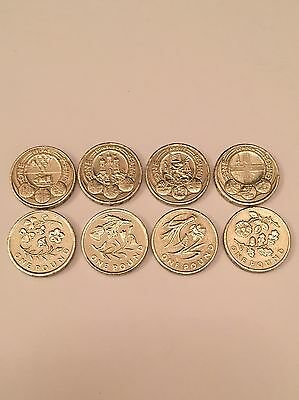 Rare £1 One Pound Coins - Full Set Of Floral Emblems & Full Set Capital Cities