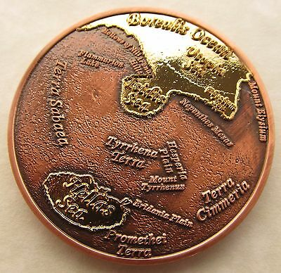 Oceans of Mars Geocoin - Oceans Blazing Edition - 24 Karat Gold and Copper