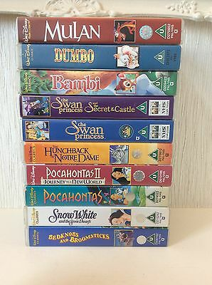 Collection Of 10 Disney Video Vhs Films