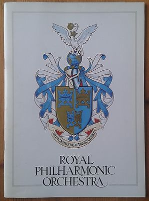 Royal Philharmonic Orchestra programme Royal Festival Hall Jul 1980 Antal Dorati