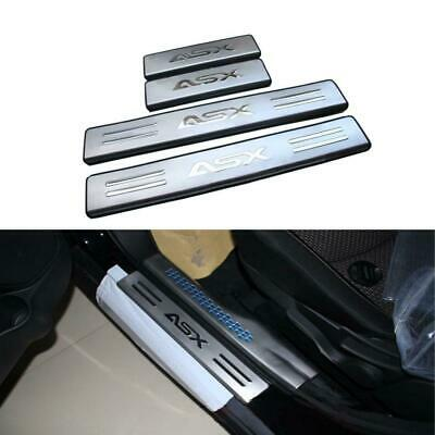 Door Sill Scuff Plate Guards Sills Stainless Steel For Mitsubishi ASX 2010-2016