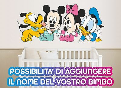 Adesivo Murale - Wall Stickers - Baby Disney Mini Minnie Topolino Pluto Paperino
