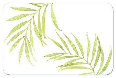 4 Bamboo Leaves Reversible Washable Plastic Placemats