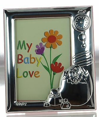 Trinity Solid 925 Sterling Silver Egg Pink Baby Picture Frame New in Box '