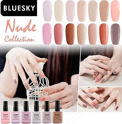 Bluesky Nude Collection Gel Nail Polish UV LED - free cleanser wipe offer - 10ml