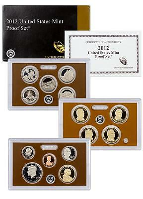 2012 US Mint 14 Coin Clad Proof Set COMPLETE with Box and COA- Low Mintage set