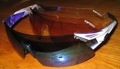 Tifosi Podium XC Sunglasses Interchangeable Crystal Clarion Purple, AC Red Clear