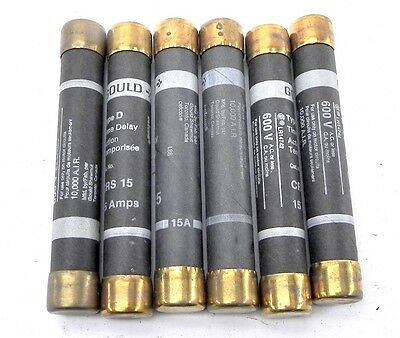 Gould Time Delay Fuse CRS15 (Lot of 6)