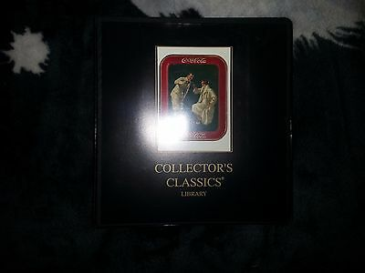 Collectors Classic 3 ring binder with coca cola pic.