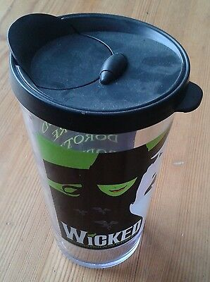 Wicked the Musical plastic cup & lid - two witches image & 'So Much Happened..'