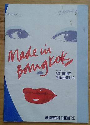 Made in Bangkok programme Aldwych Theatre June 1986 Felicity Kendal Paul Shelley