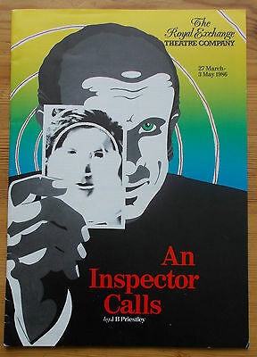 An Inspector Calls programme The Royal Exchange Manchester 1986 Hugh Grant