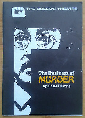 The Business of Murder programme Queen's Theatre 1989 Richard Todd Peter Byrne