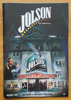 Jolson the musical programme Victoria Palace Theatre Winter 1995 Brian Conley