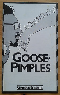Goose-Pimples programme Garrick Theatre May 1981 Jim Broadbent Marion Bailey