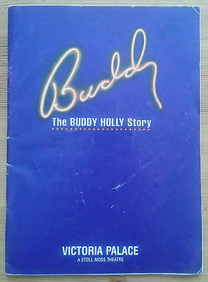 Buddy the Buddy Holly Story programme Victoria Palace Theatre October 1990 ed.