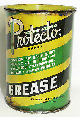 Vintage Tin Metal Oil Can PROTECTO WHEEL BEARING GREASE 1# Gas Gasoline