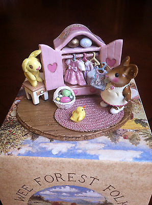 Wee Forest Folk M257a Molly's Easter Choice,  NEW w/ WFF Gift Box