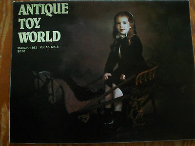 1983 Antique Toy World Magazine Convertible Rocking Horse; Two Frogs Bank