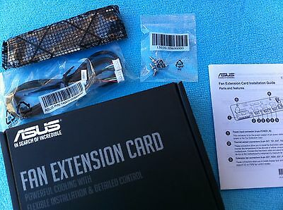 ASUS FAN EXTENSION CARD FOR RAMPAGE V edition 10,MAXIMUS,X99,Z170   ORIGINAL ONE