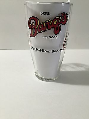 Vintage  Barq's Root Beer Drink Soda 32Oz Tall Glass New Orleans Louisiana