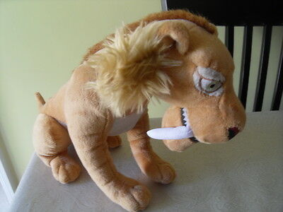 Diego the Sabre Toothed tiger plush soft toy from Ice Age 4