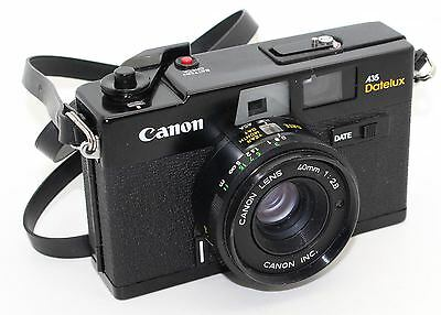 Canon A35 Datelux 35mm Film Rangefinder Camera – VGC and tested c.1977
