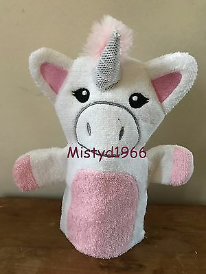 Official Unicorn Wash Mitt/flannel/mit Bath Shower Exfoliator Primark - Bnwt