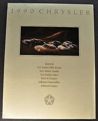 1990 Chrysler Brochure LeBaron New Yorker Fifth Avenue Imperial Town & Country