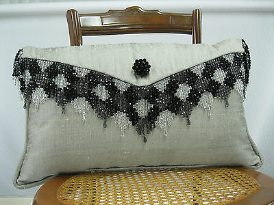 Kravet Fabrics Silk Envelope Pillow Brooch Feather/Down Insert  22 In x 13 In