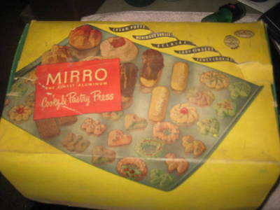 Mirro #358 Am Cooky And Pastry Press With Original Box And Instructions