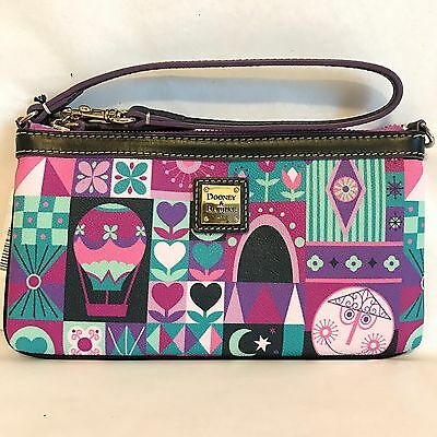 NWT Dooney & Bourke It's A Small World Wristlet Disney SOLD OUT Pink