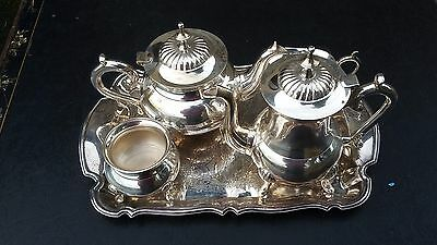 5 piece EPNS tea service with tray