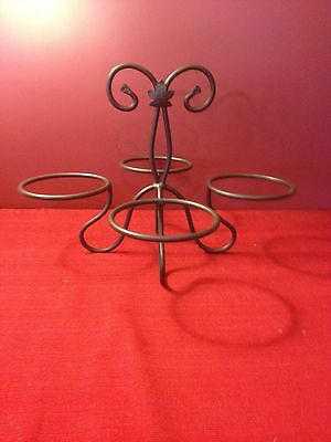 Longaberger FOUNDRY Wrought Iron DESSERT BOWL CADDY / STAND ~ NEW!