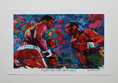 """Muhammad Ali """"fight Of The Century"""" Fine-Art Print Signed By Artist Winford"""
