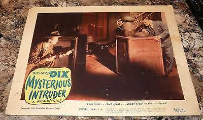 """MYSTERIOUS INTRUDER 1946 Movie Theater Lobby Cards RICHARD DIX """"The Whistler"""""""