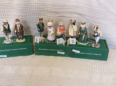 John Beswick English Country Folk Collection Of 8 Figurines