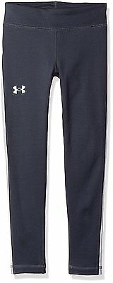 Under Armour Girls ColdGear Armour Leggings, Stealth Gray 008, Youth Large
