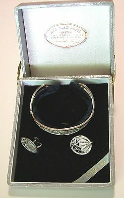 Vintage Sterling Silver Cuff Bracelet and Earrings, Cannetille Filigree