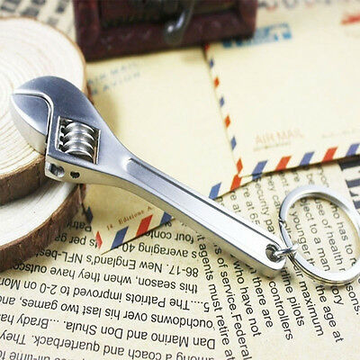 New Key Chain Ring Keyring Mini Tool Wrench Spanner Adjustable Metal Creative