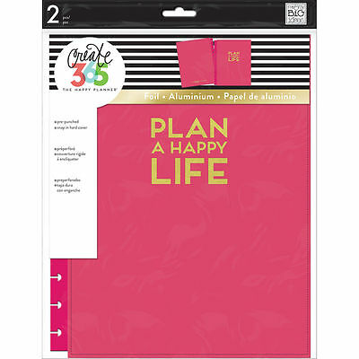 Create 365 The Big Happy Planner Snap-In Hard Cover by Mambi, Pink New 2017!
