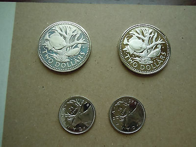 Small Collection Of Stunning Proof Coins Canada/barbados Cn $2 Dollar Coins