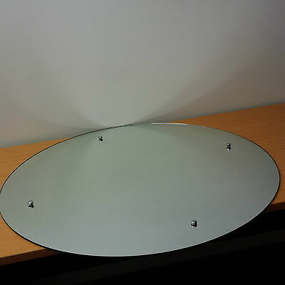 900mm Round Screw-to-wall mirror with Chrome Caps