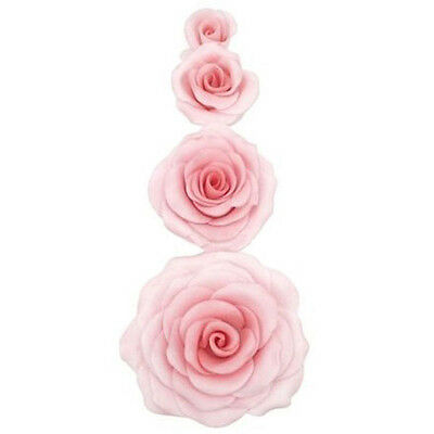 Tool Decorating Sugar Craft Cookie Fondant Rose Flower Cutter Mold Cake